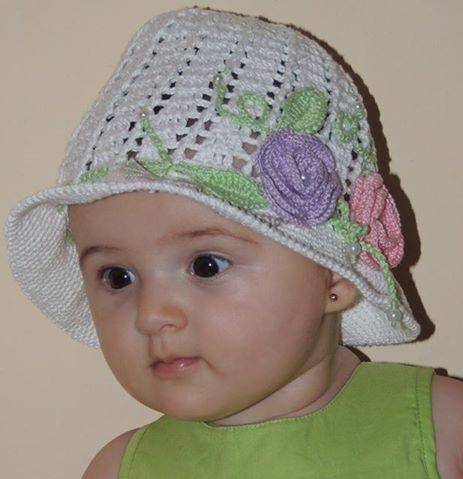 flor de crochê - chapeuzinho