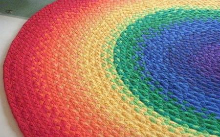 Tapete de crochê - colorido degradê