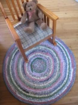 Tapete de crochê - com cadeira