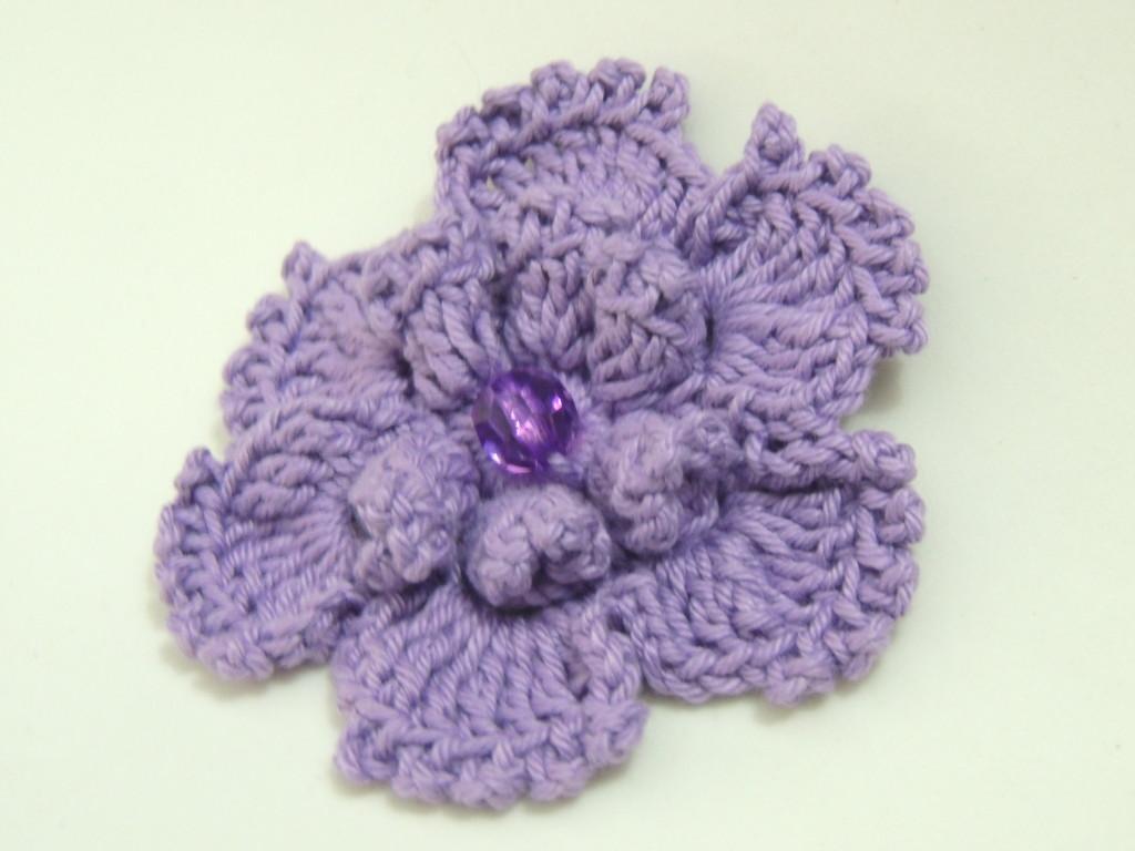flor em crochê Pipoca