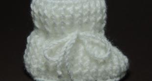Sapatinho de crochê tradicional 1