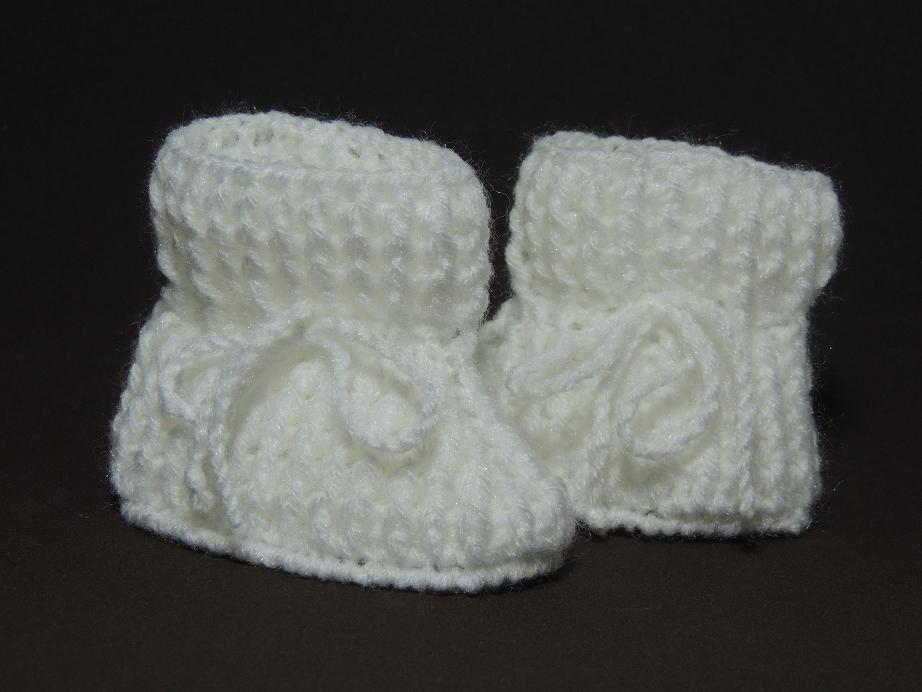Sapatinho de crochê tradicional 4