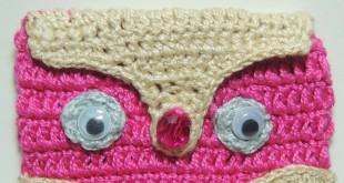 Capa de Celular de Crochê Corujinha - 2
