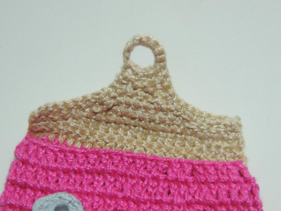 Capa de Celular de Crochê Corujinha - 4