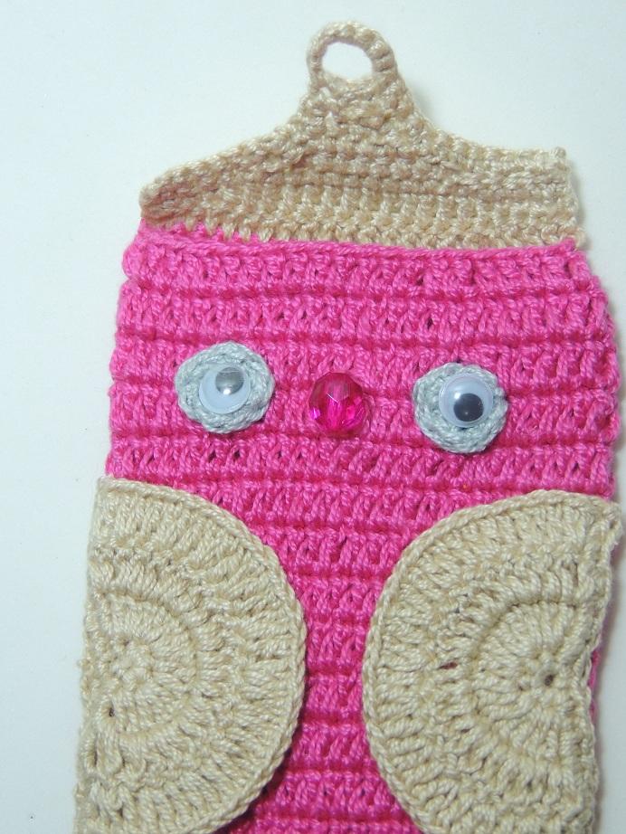 Capa de Celular de Crochê Corujinha - 5