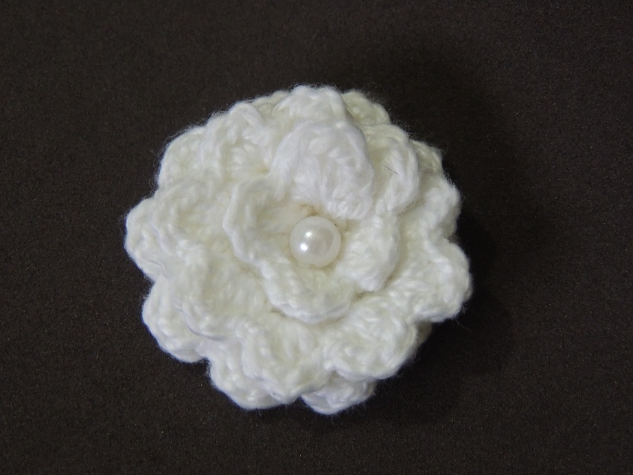 Flor de Crochê Básica 3 - 1