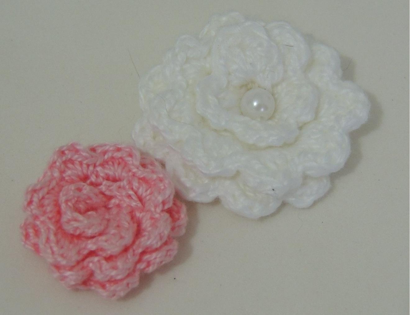 Flor de Crochê Básica 3 - 4