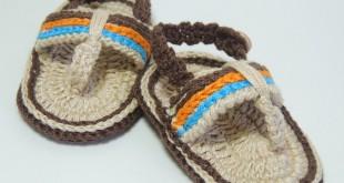 Sandalia de crochê para bebês 4