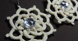 Brinco de Crochê com Argolas 4